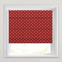 Contemporary Patterned Roman Blinds Funky Colourful White