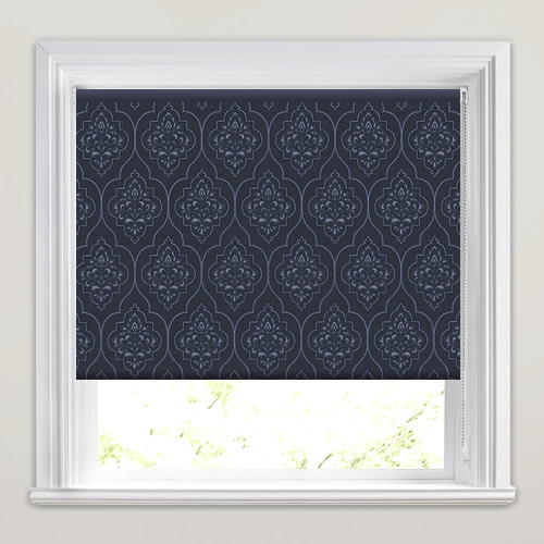 Puteri Navy Roller Blinds Made To Measure