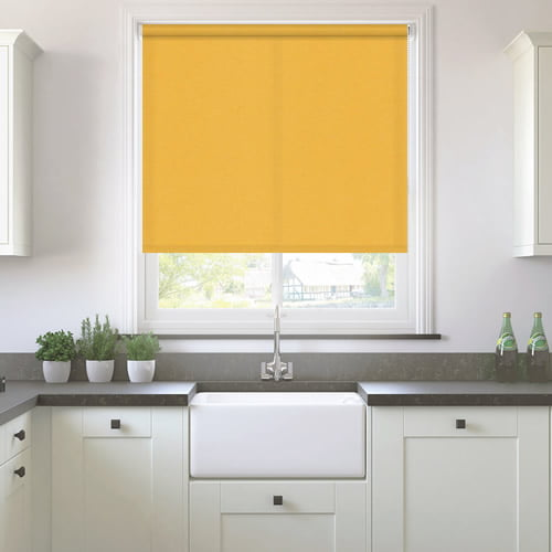 Neo Bright Vibrant Yellow Roller Blinds Made To Measure