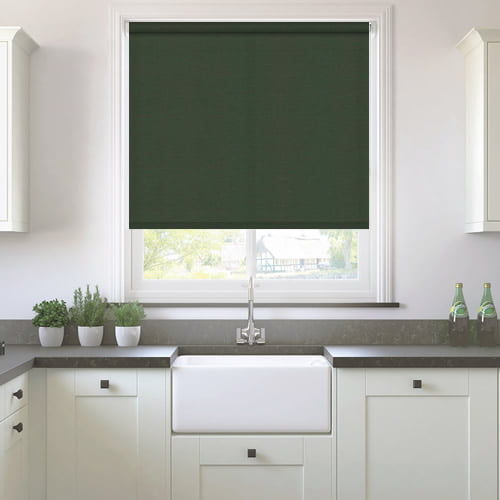 Neo Dark Green Roller Blinds Made To Measure 50 Off