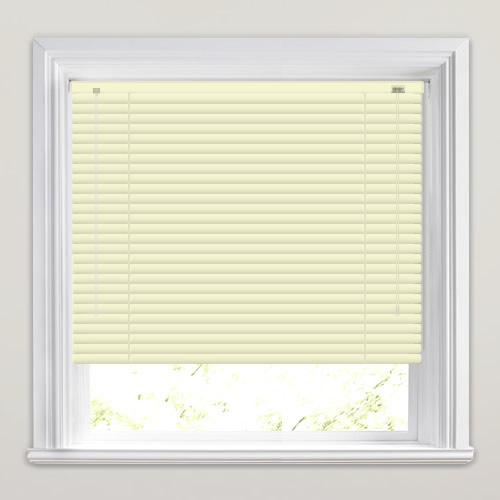 Ivory Off White Aluminium Venetian Blinds Made To Measure