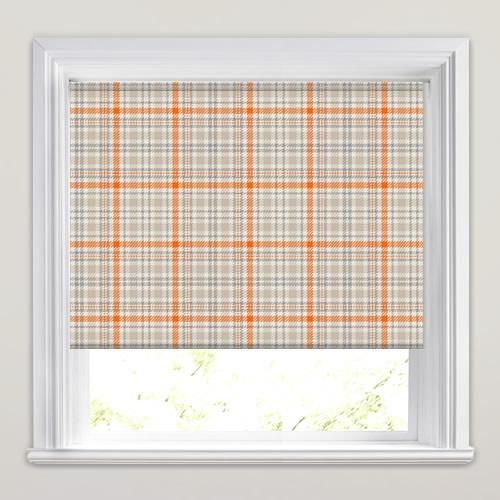 Tartan Dunbar Orange Patterned Roller Blinds