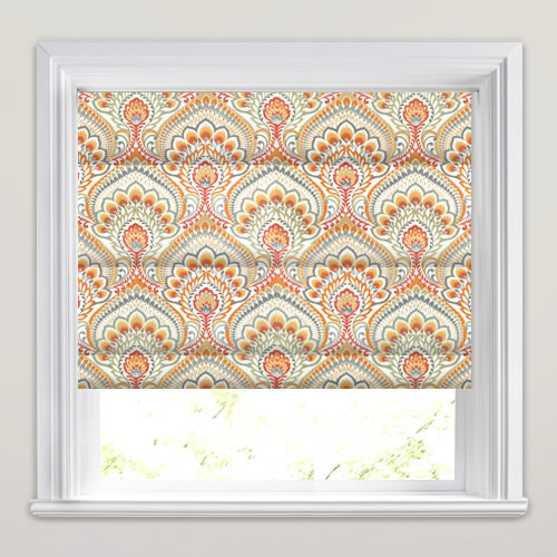 Orange Grey Taupe Amp White Psychedelic Paisley Patterned