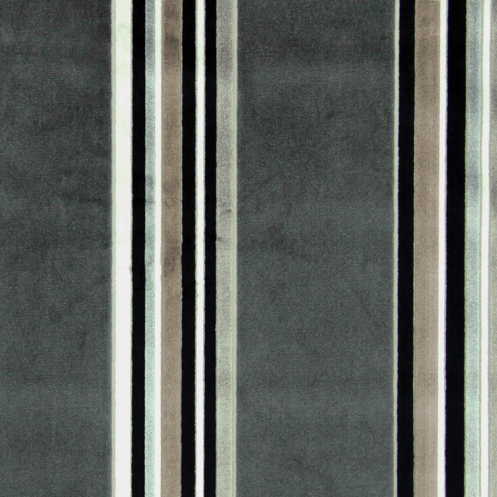 Grey Black Silver Cream Amp Taupe Velour Striped Roman Blinds