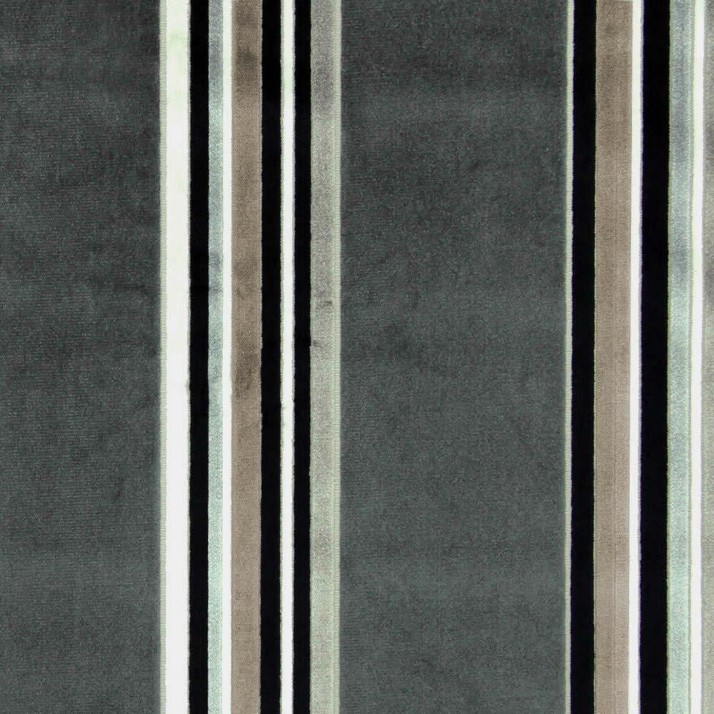 Grey Black Silver Cream Amp Taupe Velour Striped Roman Blinds