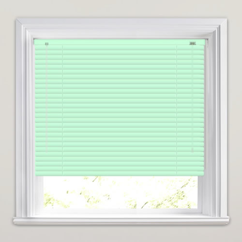 Made To Measure Peppermint Pastel Mint Green Venetian Blinds