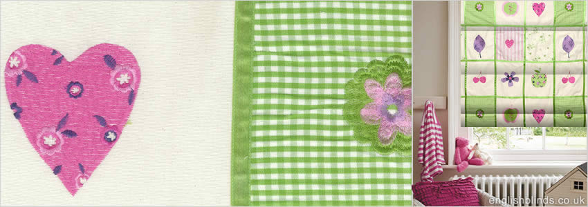 Baby Patchwork Lavender Roman Blind