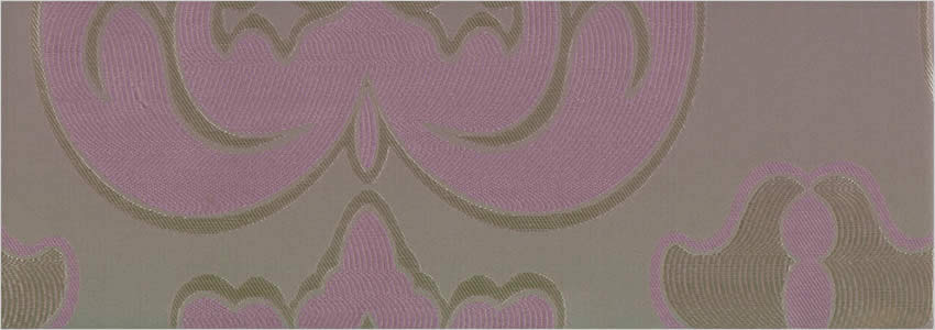 Large Patterned Rococo Iridescent Silver Taupe Lilac Curtains
