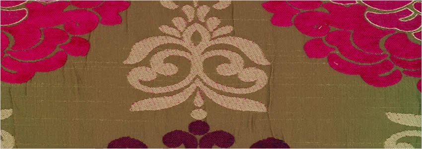 Damask Patterned Pink Brown Silver Amp Magenta Lined