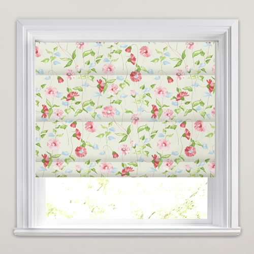 Classical Pink Red Green Blue Amp Cream Daisy Patterned