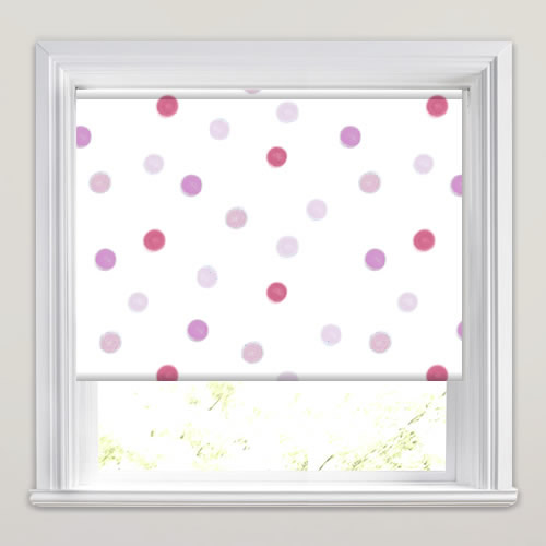 Pink Red Lilac Beige Amp White Spots Patterned Blackout