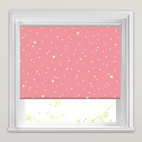 Pretty Pink White Amp Red Stars Patterned Blackout Roller