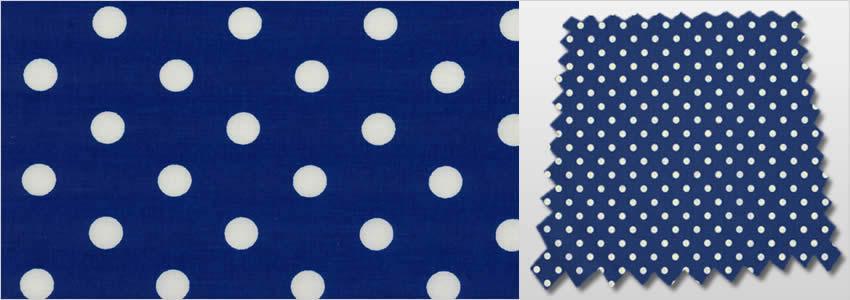 Polka Dot Patterned Royal Blue Amp White Kids Nursery Curtains