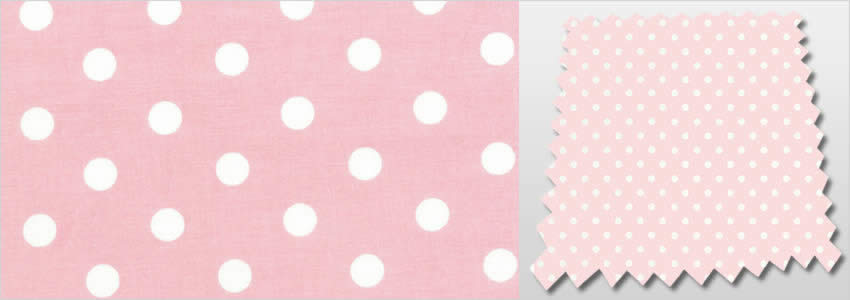 Baby Pink Amp White Polka Dots Patterned Childrens Bedroom