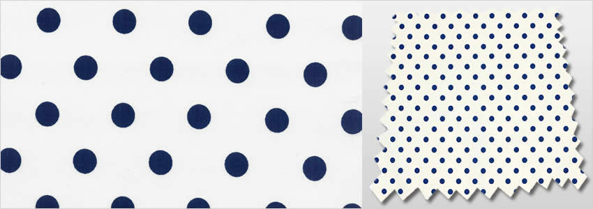 Classic Polka Dot Patterned White Amp Navy Blue Kids Bedroom