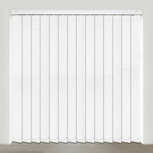Priory Optic White Vertical Blind