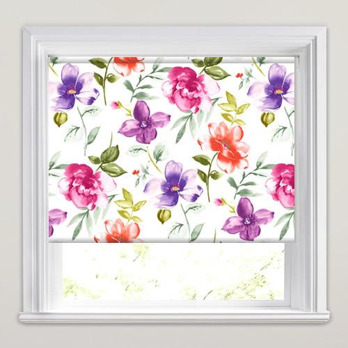 imogen lilac patterned roller blinds. Black Bedroom Furniture Sets. Home Design Ideas