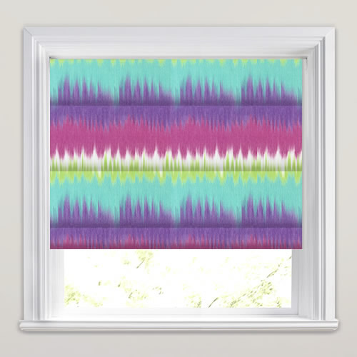 Purple Lime Turquoise Amp Burgundy Red Tie Dye Roman Blinds