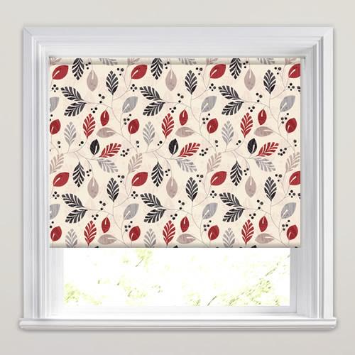 urbino rouge patterned roller blinds. Black Bedroom Furniture Sets. Home Design Ideas