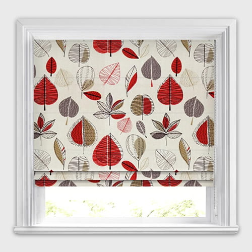 Maple Red Berry Roman Blind