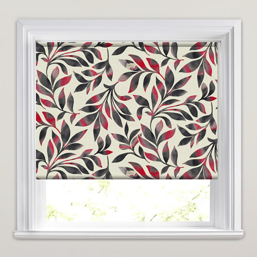 Dixie Indian Red Roller Blind