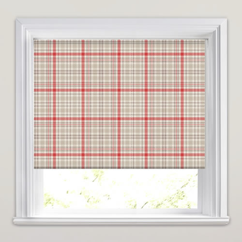 Tartan Wallace Red Roller Blind