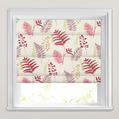 Manilla Pomegranate Roman Blind