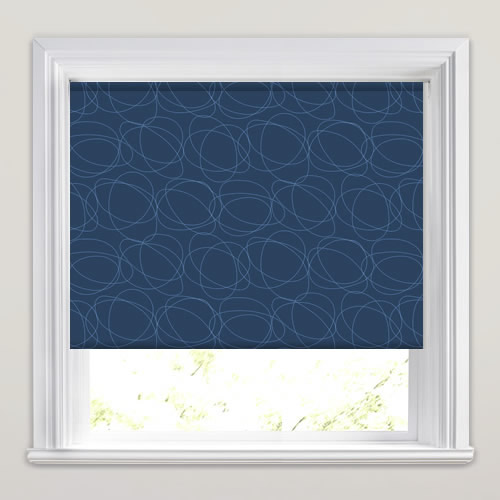 Squiggle Midnight Roller Blind