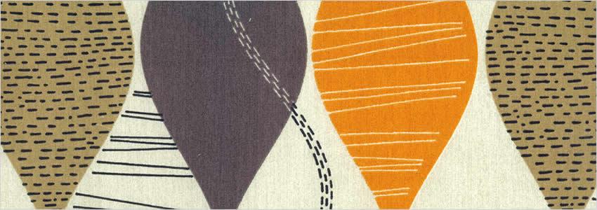 Funky Brown Beige Amber Amp Vibrant Orange Retro Patterned
