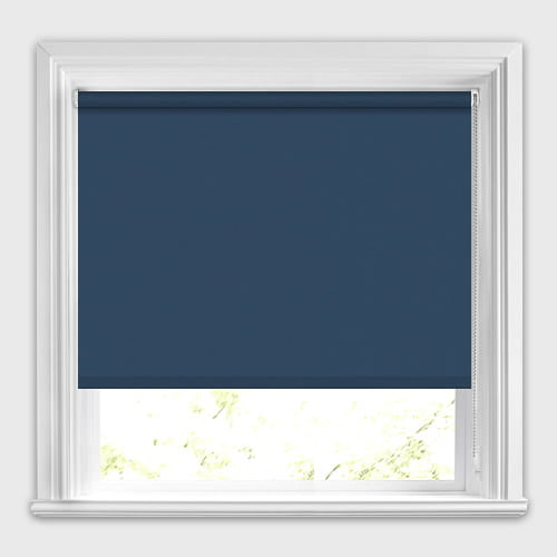 Deep Navy Blue Blackout Roller Blinds Made To Measure