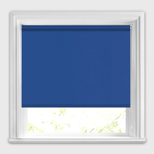 Deep Royal Blue Blackout Roller Blinds Made To Measure