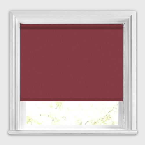 Deep Ruby Red Roller Blinds Made To Measure