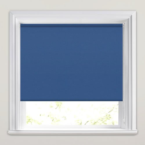 Royal Blue Fire Retardant Roller Blinds Made To Measure