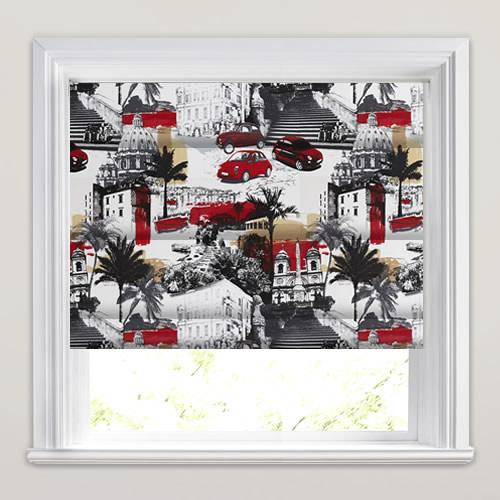 Black White Amp Red Italian Scenic Pop Art Patterned Roman