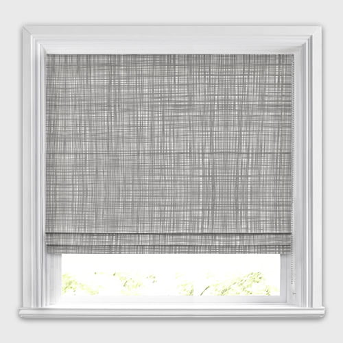 Scribble Cool Grey Roman Blind