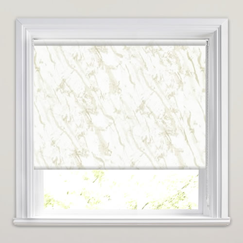 Cream Amp Silver Marble Patterned Waterproof Roller Blinds