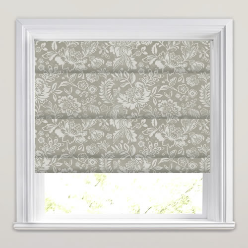 Shimmering Silver Grey Amp Cream Velvet Floral Patterned