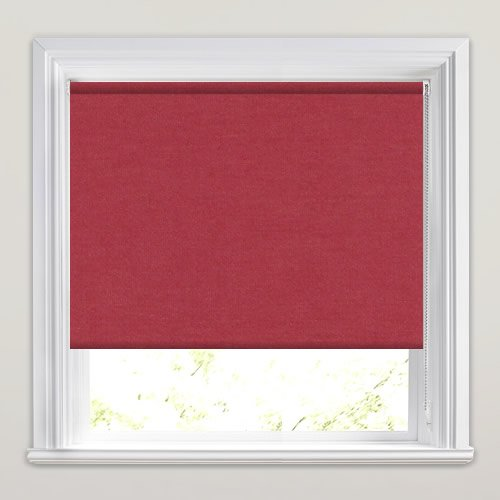 Deep Sorbet Red Blackout Roller Blinds Thermal Made To