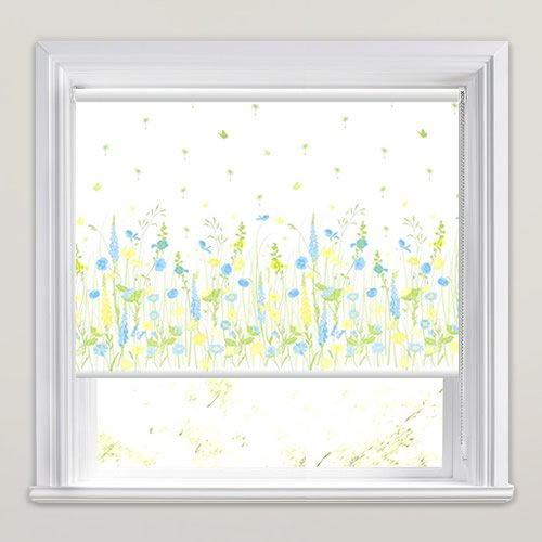 Wild Spring Meadow Flowers Patterned Roller Blinds