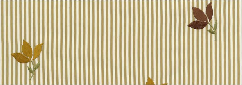 Cream Beige Curtains Vintage Antique Stripes Flowers