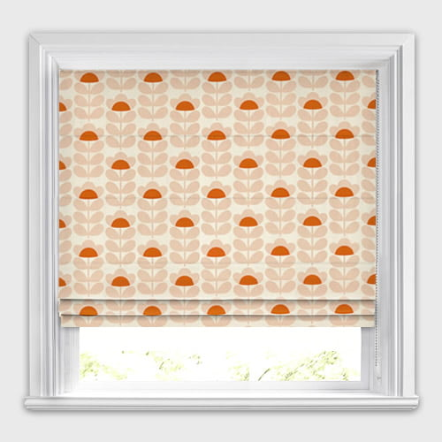 Sweet Pea Orange Roman Blind