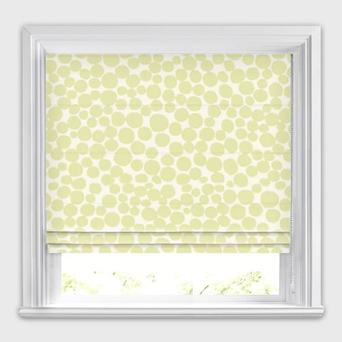 Contemporary Roman Blinds Cream Amp Taupe Circle Patterned