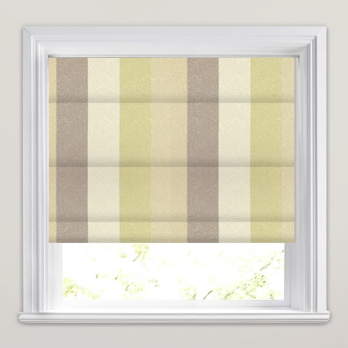 Nickel Citron Roman Blind