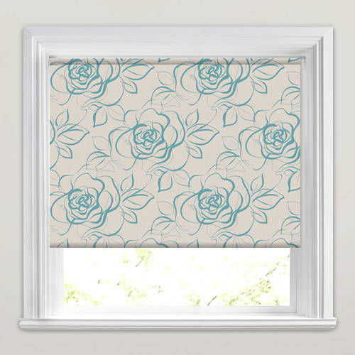 Regale Teal Roller Blind