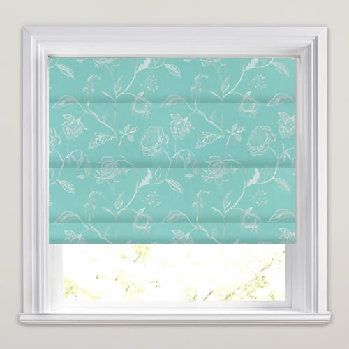 Shimmering Silver Amp Turquoise Floral Jacobean Trail Roman