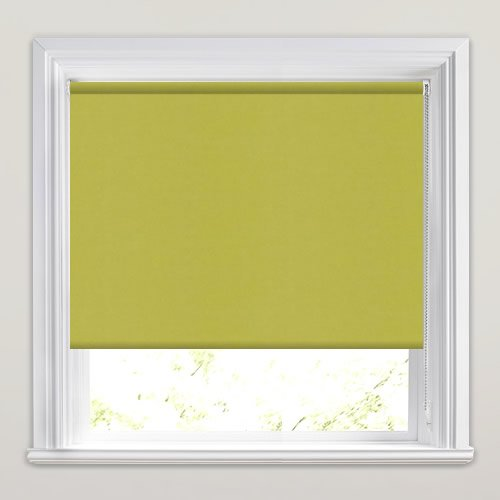 Kitchen Roller Blinds Made To Measure: Vibrant Green Blackout Roller Blinds, Luxury Made To Measure