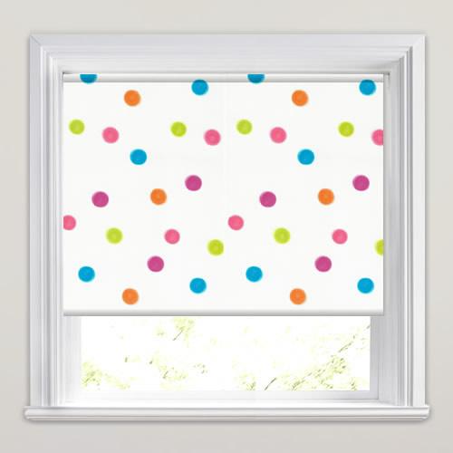 Pastel Spots Pinky Patterned Blackout Roller Blinds