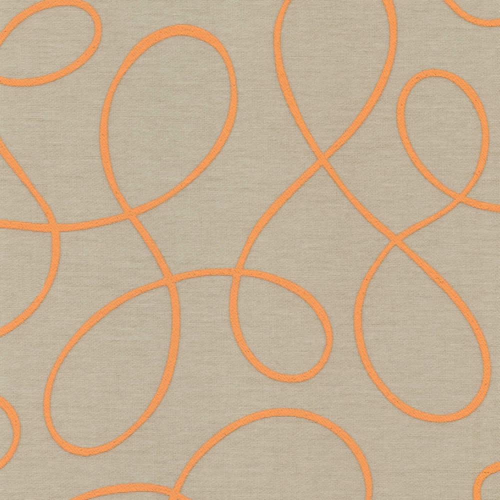 Squiggle Orange Roller Blind