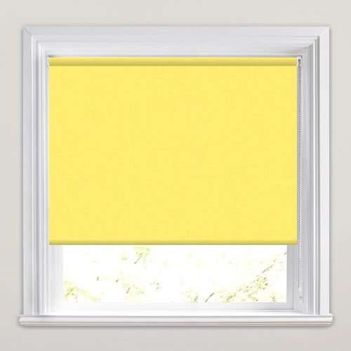 Vibrant Yellow Blackout Roller Blinds Made To Measure