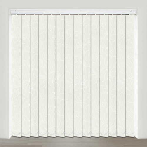 Ophelia White Vertical Blind